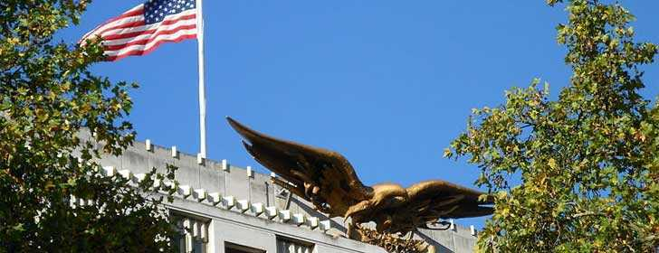 American Eagle on the top of the American Embassy in London
